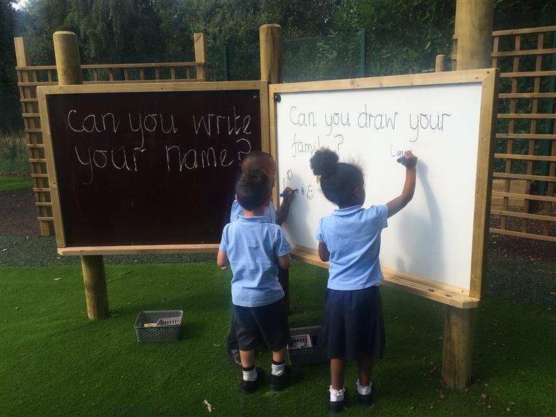 Outdoor Whiteboard and Chalkboard Playground