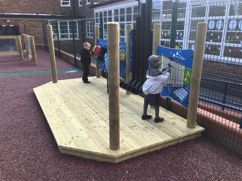 outdoor school performance stage