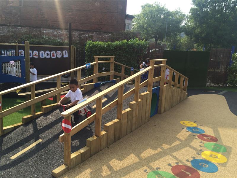 playground surfacing and ramp