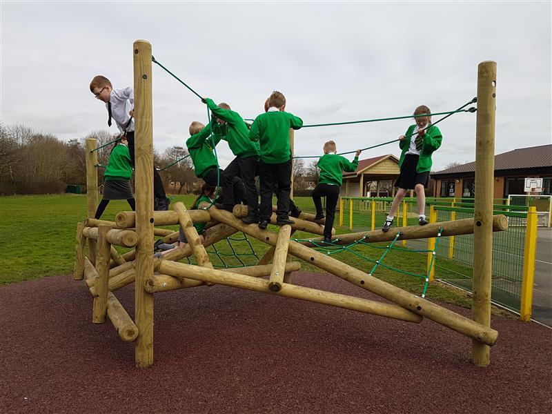 log climbing frame