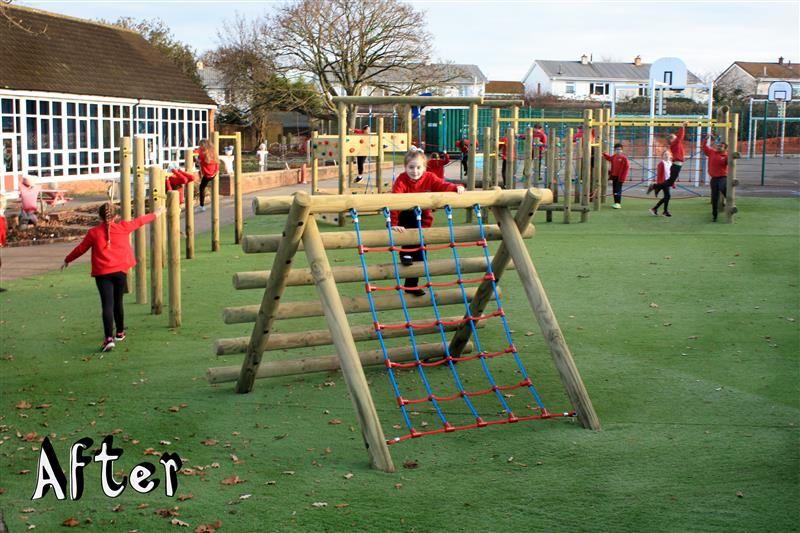 Active Play Equipment at Ashton Vale in Bristol