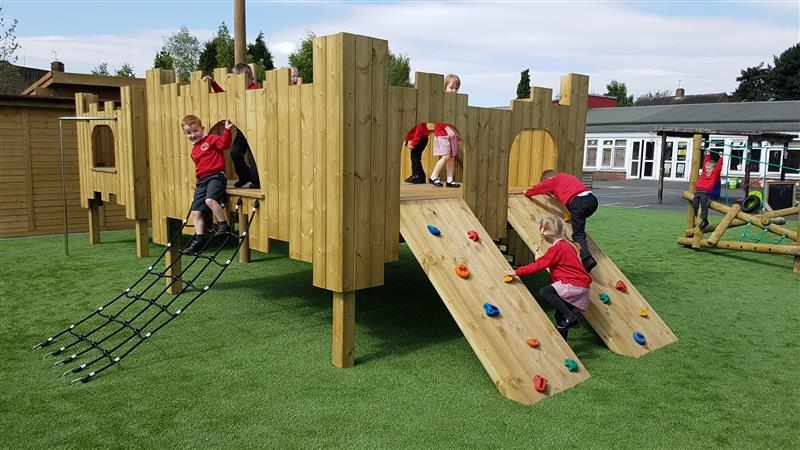 outdoor play castle