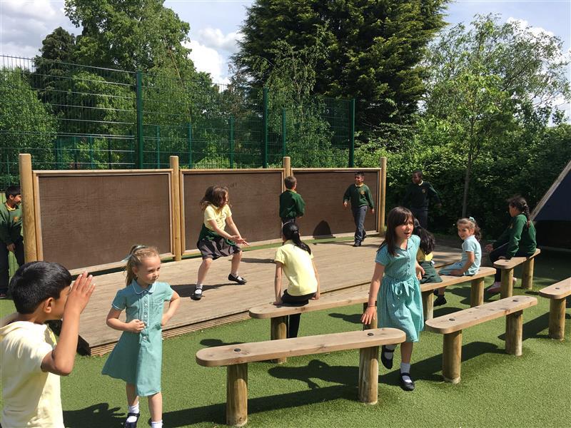 outdoor school stage