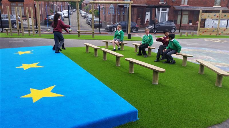school outdoor stage