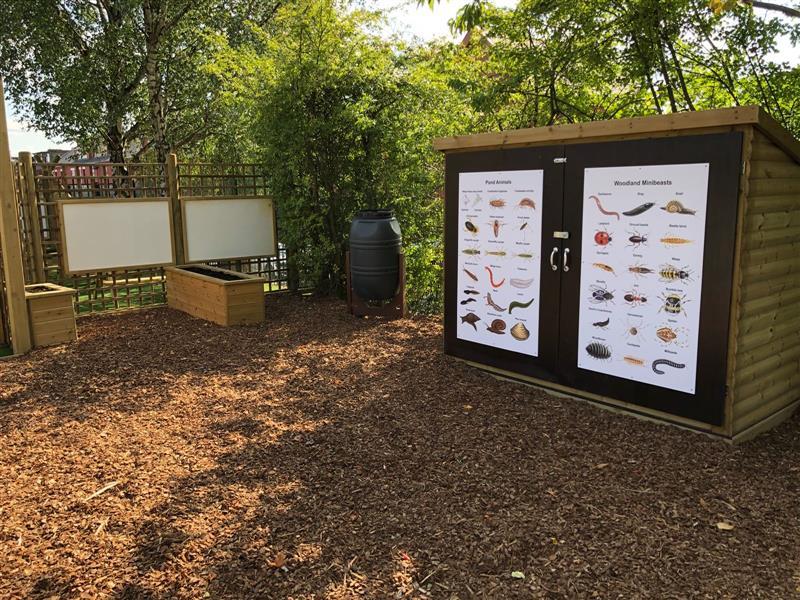 school playground wildlife area