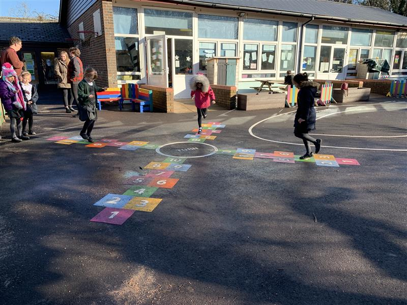 hopscotch playground markings for schools
