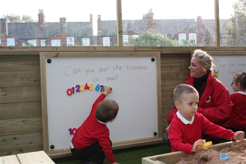 outdoor mark making boards