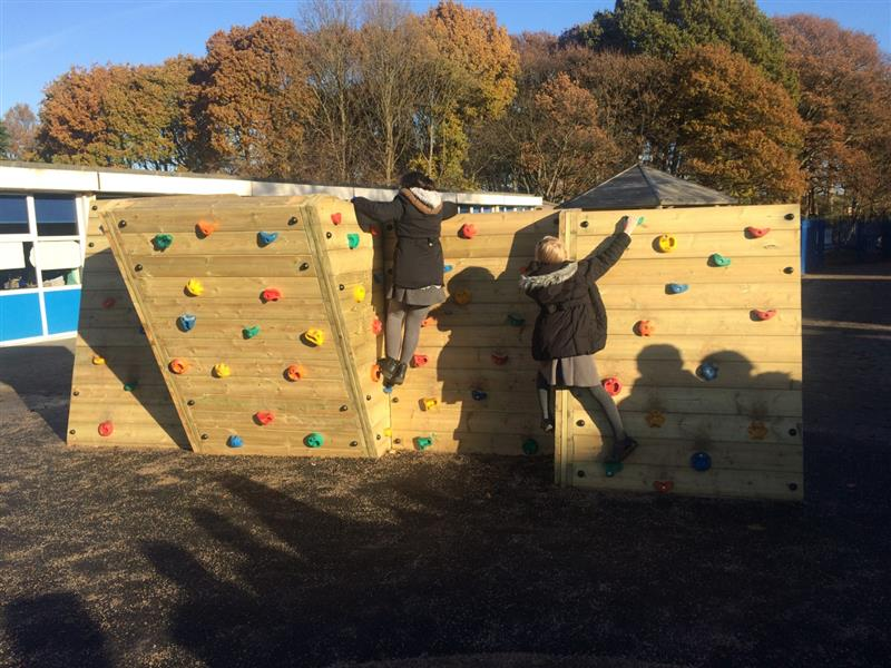 playground climbing wall for schools