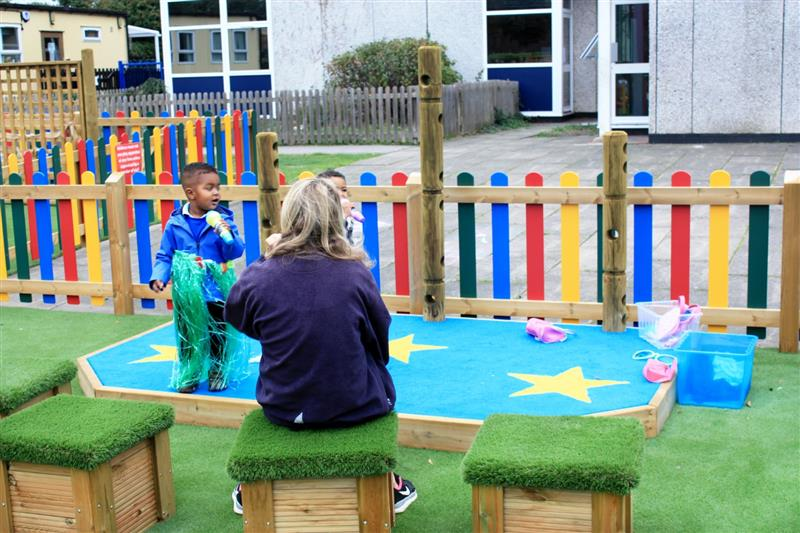 outdoor stage for preschools