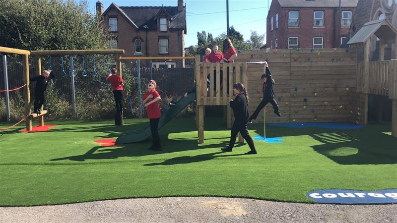 playground climbing towers