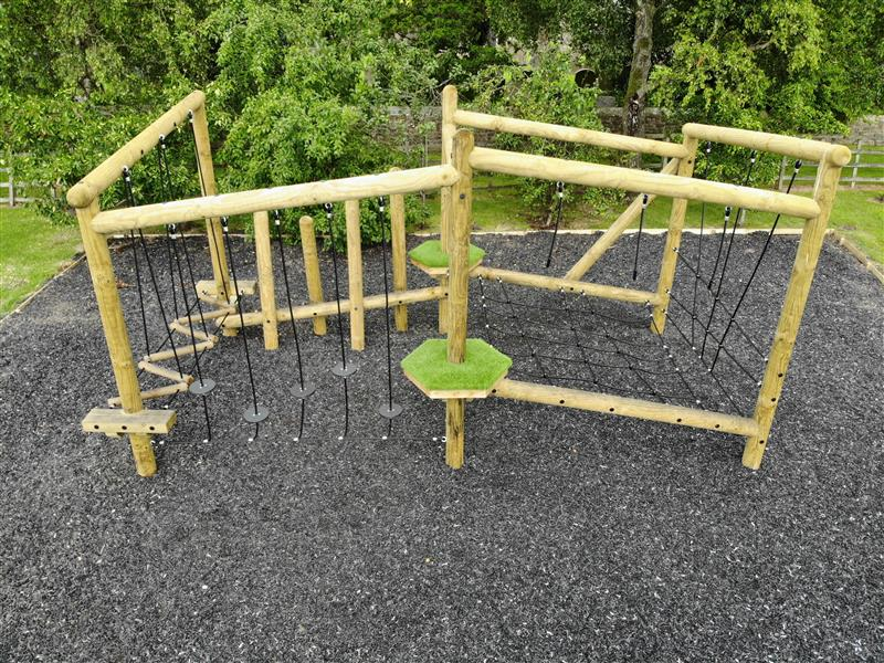 Forest Circuit Climbing Frames For Schools