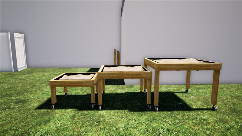 SEN Outdoor Playground Nesting Tables