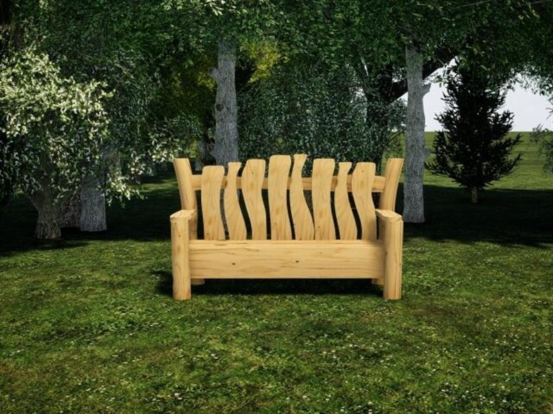 Robinia Timber Seating For Schools