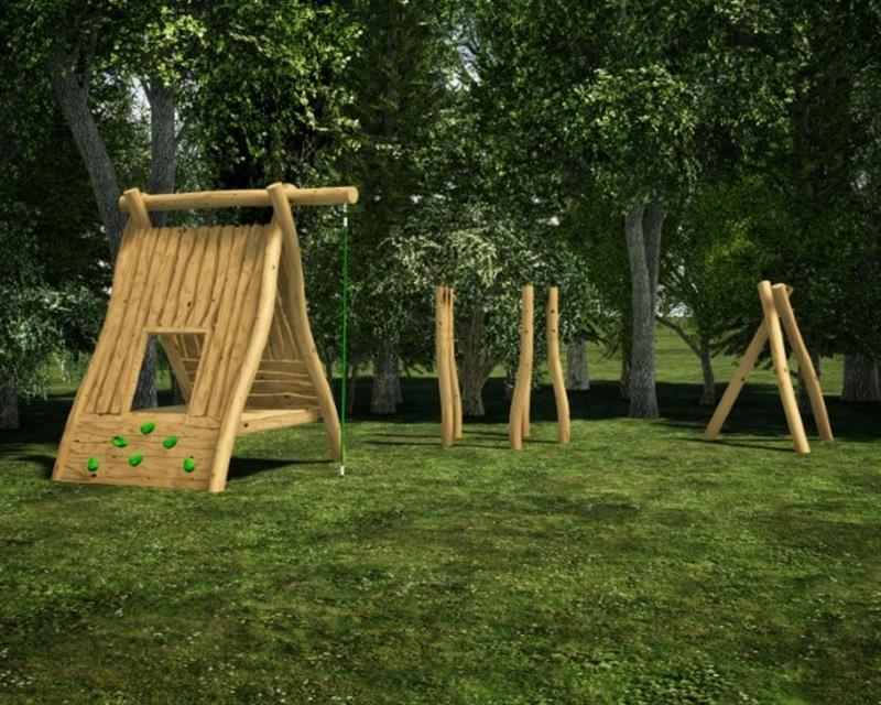 Robinia Den Making Play Equipment for Schools