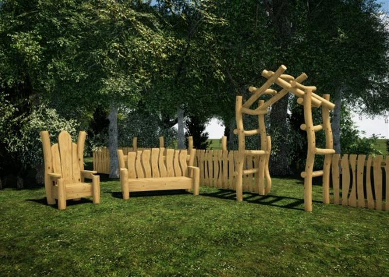 Robinia Timber Playground Seating