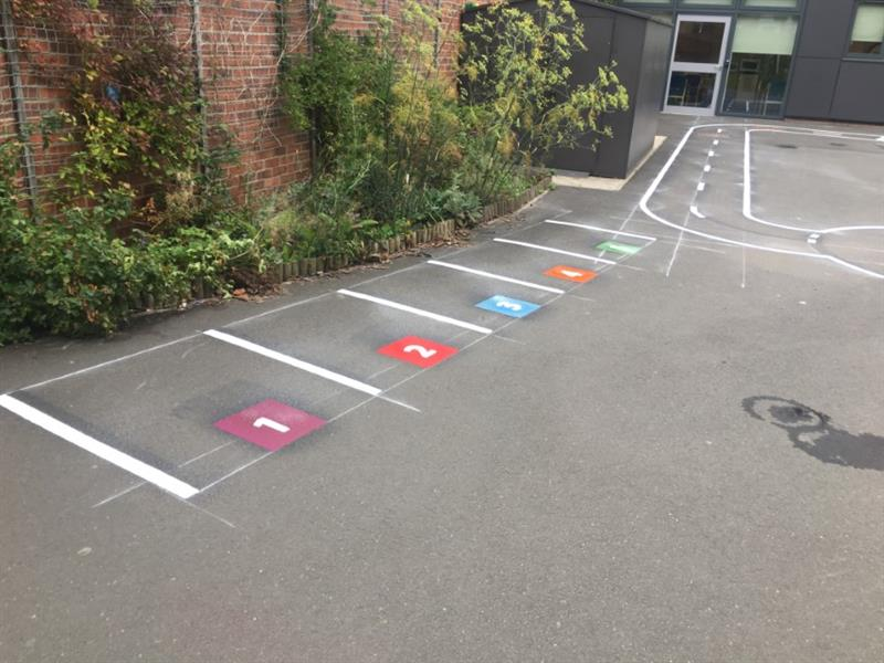 playground markings eyfs roadway