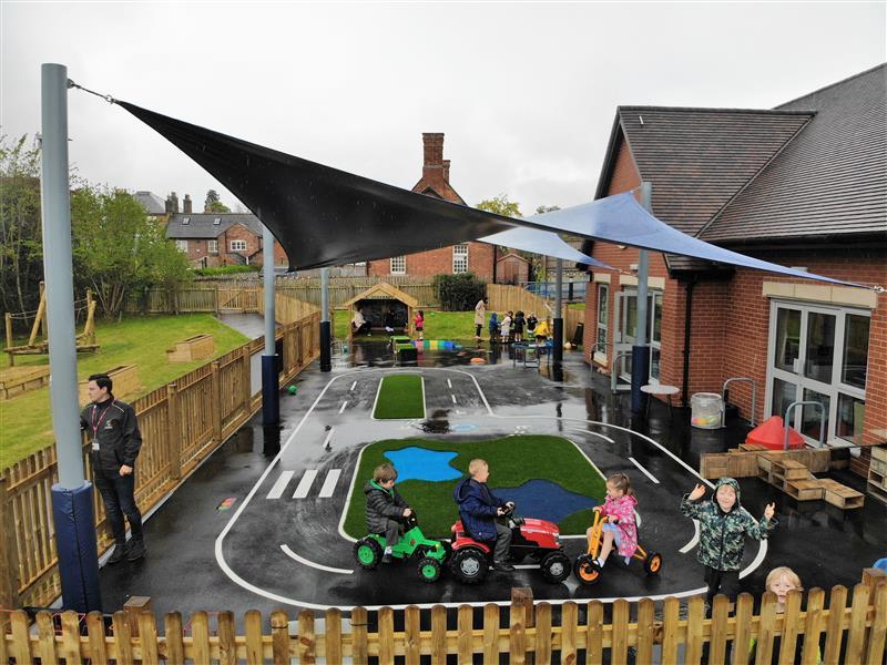 Roadway Playground Markings