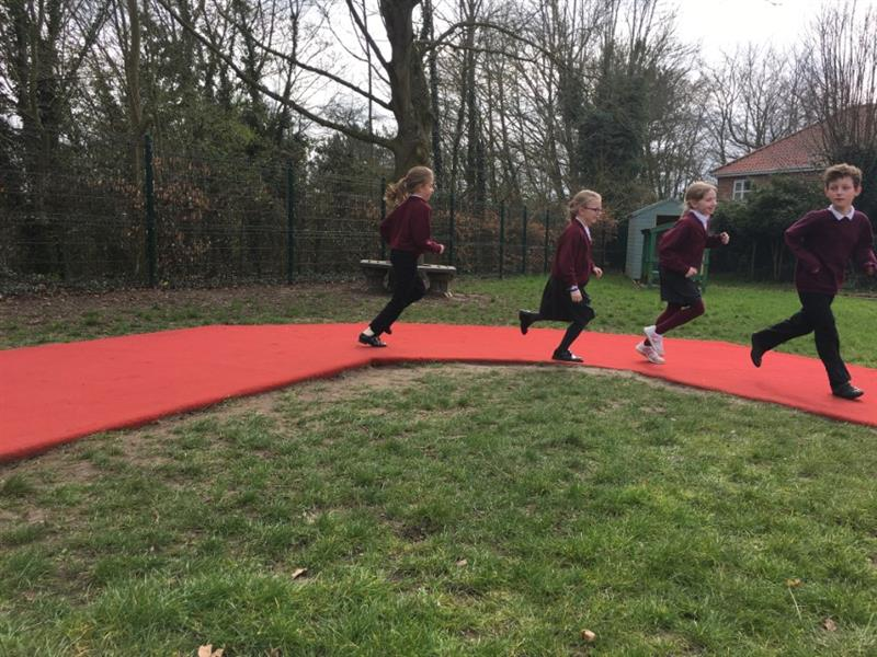 School Playground Track For Daily Mile