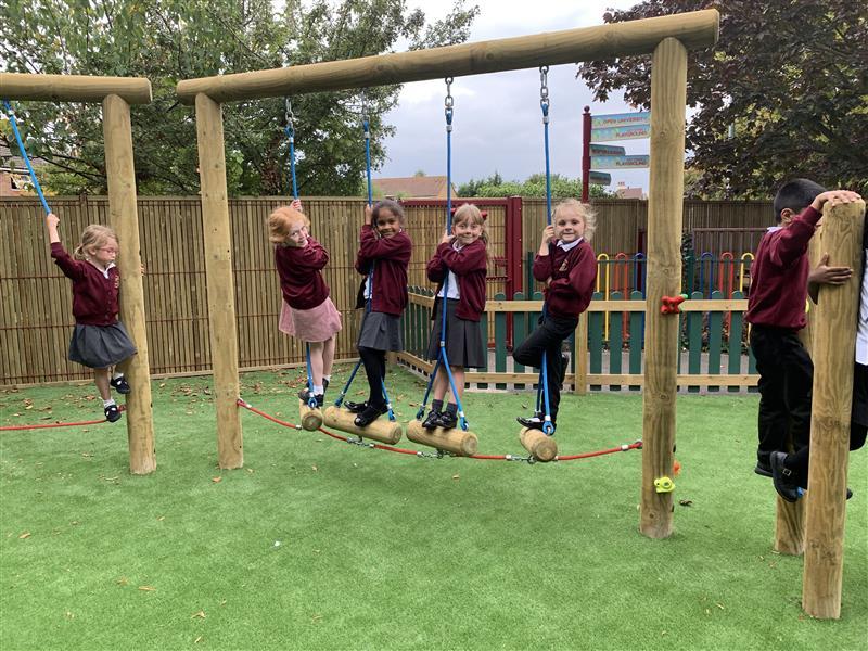 School Playground Trim Trail Equipment