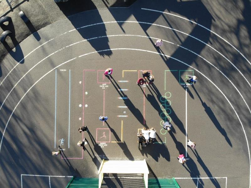 Thernoplastic Playground Markings for Schools