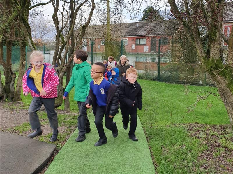 School Playground Daily Mile Tracks