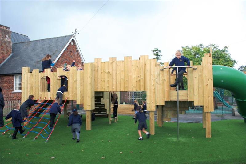 School Playground Play Towers