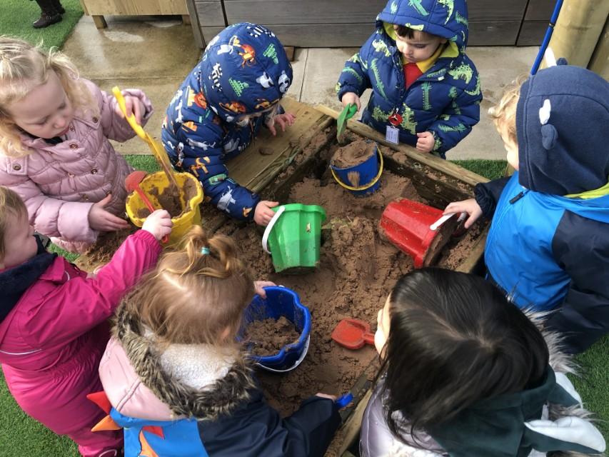 Sand Play Equipment For Nursery Gardens