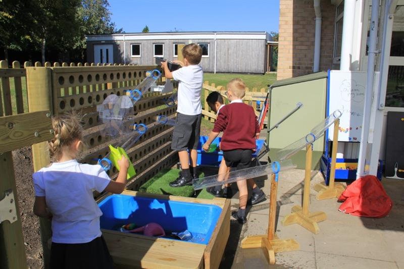 Water Walls for EYFS Playgrounds