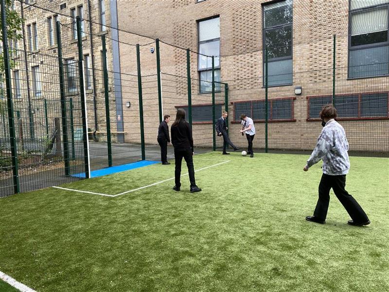 children playing on 4g muga pitch