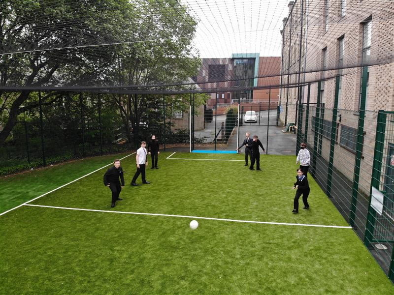 children playing on our muga pitch