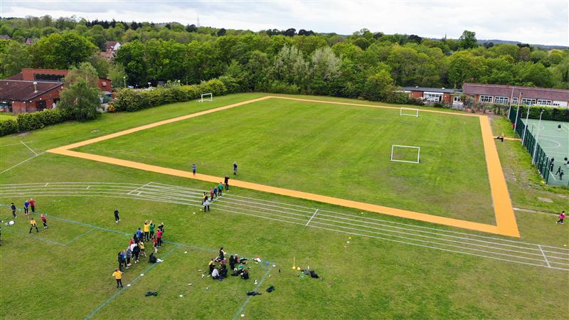 a birds eye view of the daily mile track