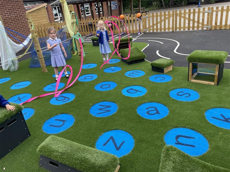 children playing on playturf