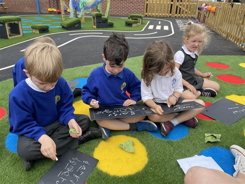 children using our scribble boards