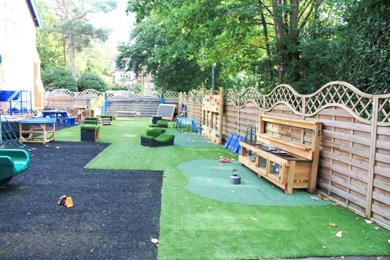 An all-weather eyfs playground