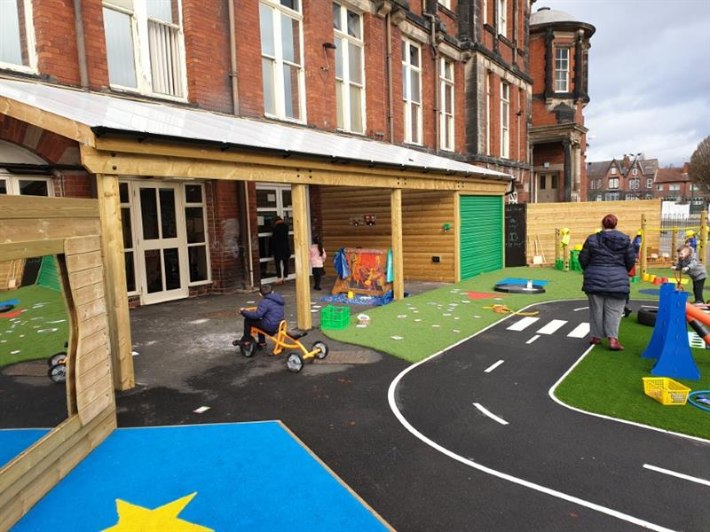 Timber canopies for primary schools and nurseries