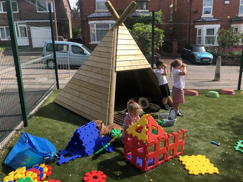 a side view of our wigwam
