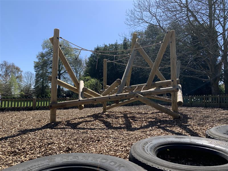 Tryfan Climbing frame with tyres infront