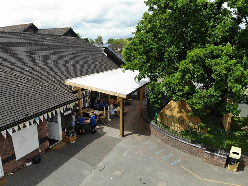 A birds eye view of our canopy