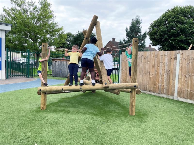 Children playing on Harter Fell