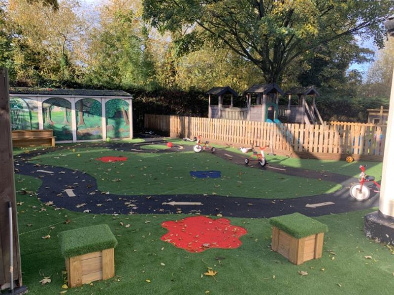 A nursery garden all-weather surfacing design