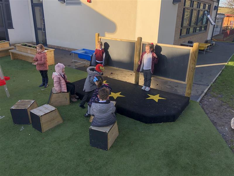 Children playing on our Stage School
