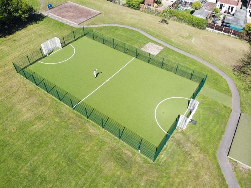 A Multi Use Games Area on a school field