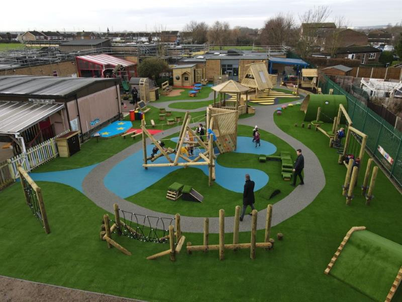A huge eyfs playground redesign