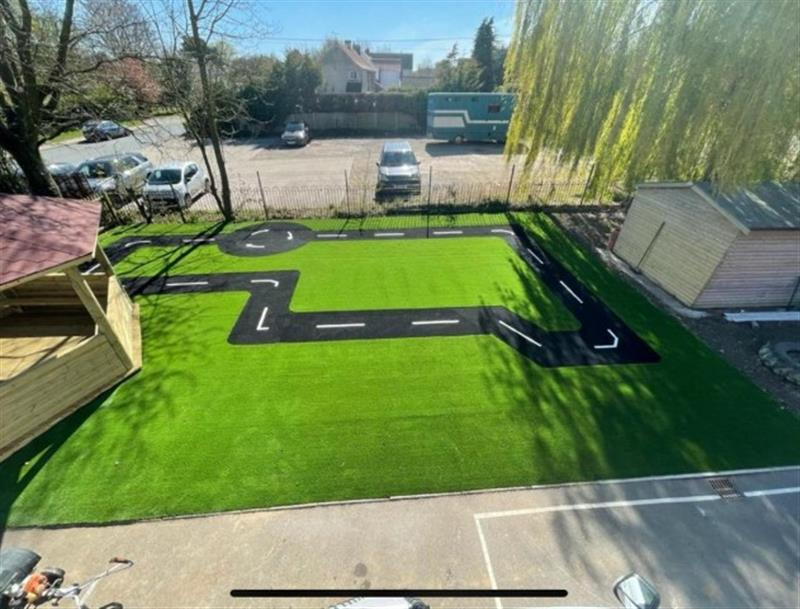 An overhead view of Otley Primary School's new playground