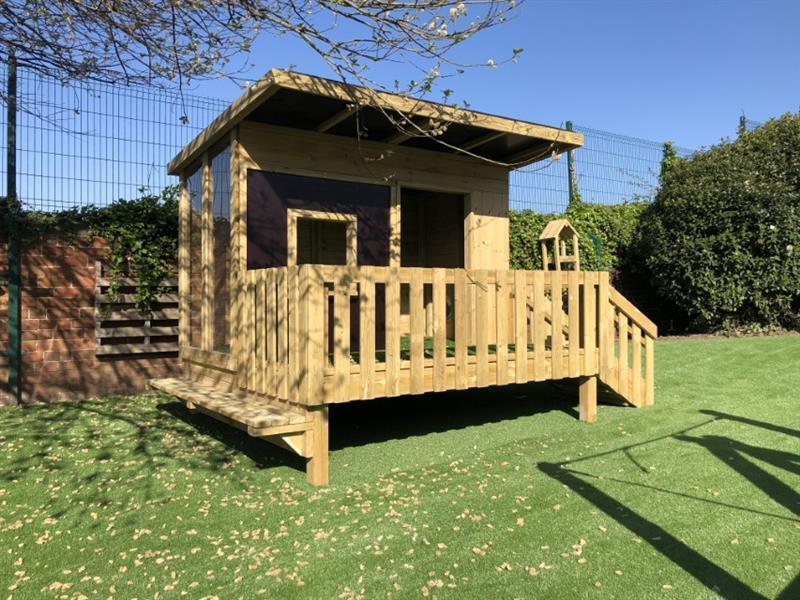 Pentagon Play's lookout cabin