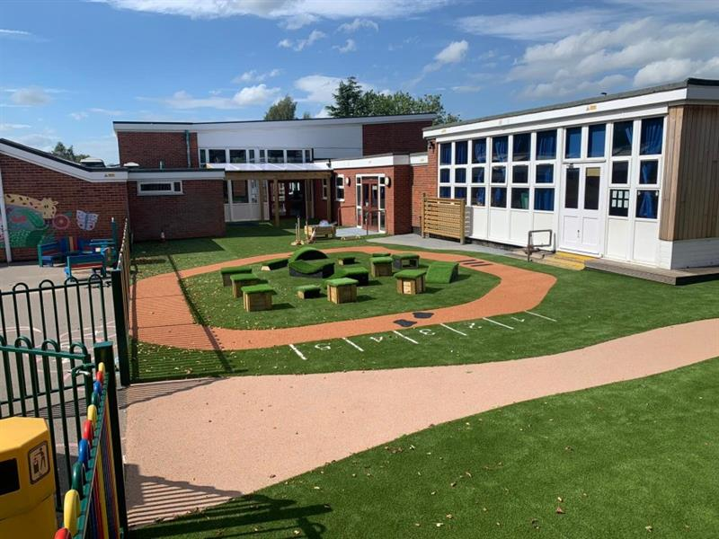 Artificial Grass playground surfacing design