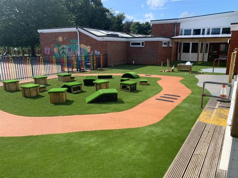 Get Set Go Blocks placed onto an eyfs playground