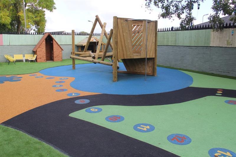 School playground climbing frame