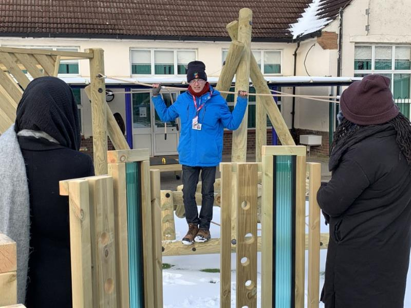 An outdoor teacher training day conducted at Harris Primary Academy