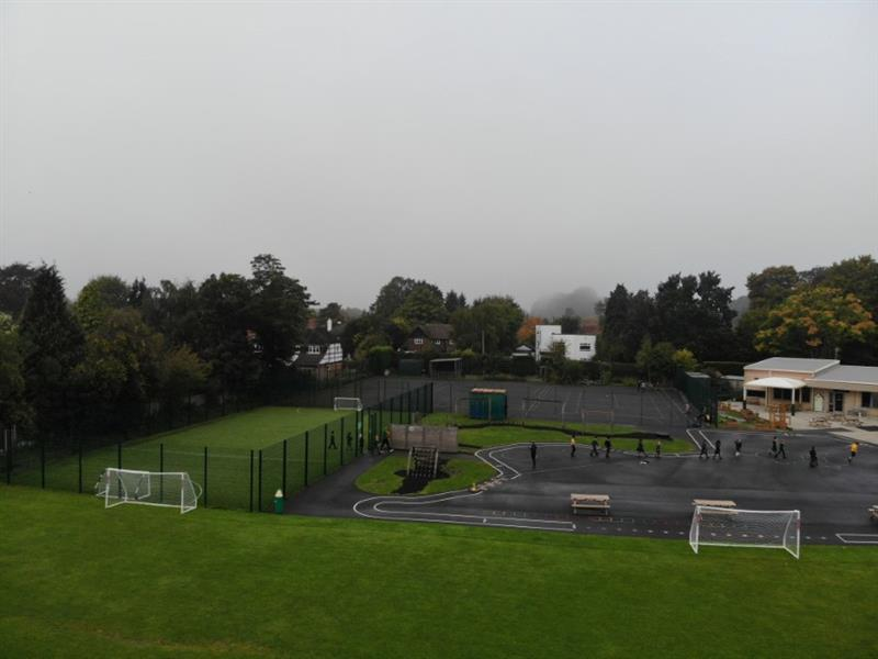 A MUGA and a Daily Mile Track on a school playground